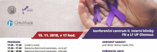 Světový den rakoviny pankreatu připomene FN Olomouc odborným seminářem. Olomoucká radnice zazáří fialovou barvou